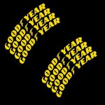 Goodyear-Tire-Stickers-Yellow-Tire-Letters